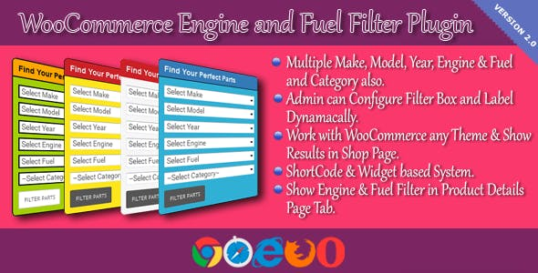 WooCommerce Engine and Fuel Filter Plugin