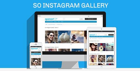 So Instagram Gallery - Responsive OpenCart 3.0.x & OpenCart 2.x Module