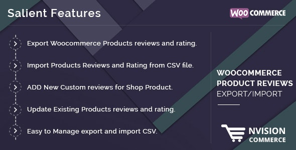 WooCommerce Product Reviews Export/Import - CodeCanyon Item for Sale