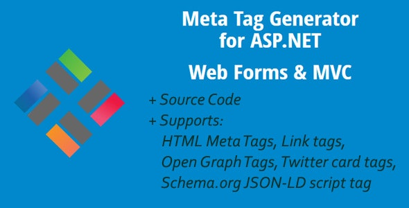 Meta Tag Generator for ASP.NET Web Forms & MVC - CodeCanyon Item for Sale