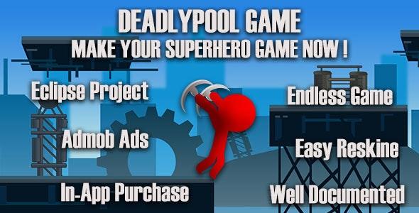 DeadlyPool A Superhero Game + PSD - CodeCanyon Item for Sale