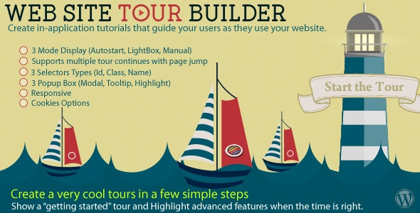 Web Site Tour Builder For Wordpress - CodeCanyon Item for Sale