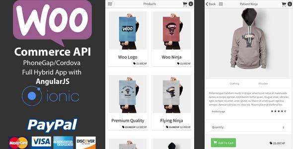 Ionic WooCommerce API - PhoneGap / Cordova Full Hybrid App