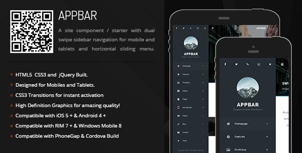 AppBar | Sidebar Menu for Mobiles & Tablets