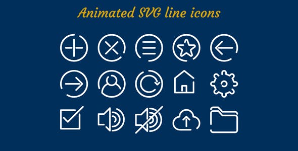 Animated SVG line icons