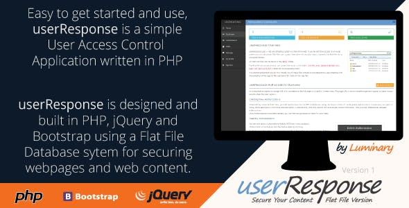 userResponse Flat File User Control System