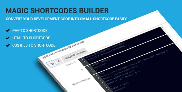 Magic Shortcodes Builder - CodeCanyon Item for Sale