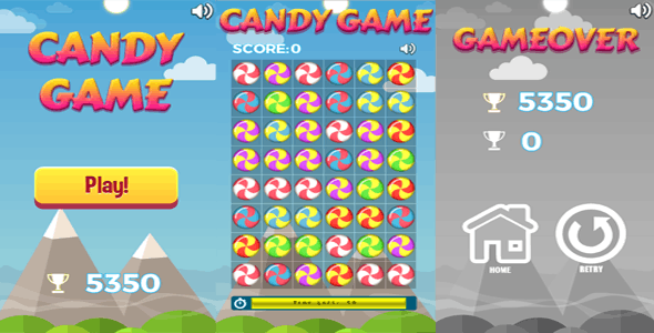 Candy Game - HTML5 Casual Game - CodeCanyon Item for Sale