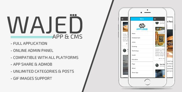 Wajed - Full Ionic App with CMS & Admob