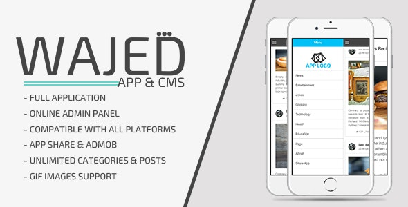 Wajed - Full Ionic App with CMS & Admob - CodeCanyon Item for Sale