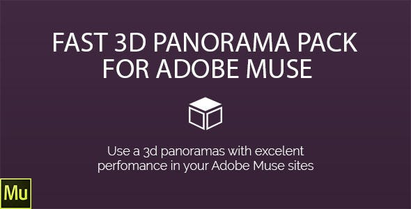 3D-Panorama Pack for Adobe Muse
