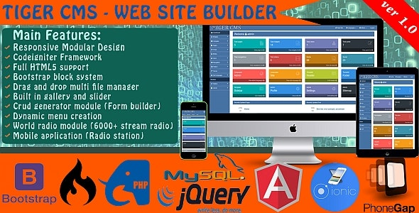 Tiger CMS – WebSite builder - CodeCanyon Item for Sale