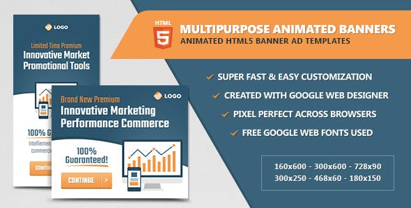 Multipurpose Animated HTML5 Banner Ads
