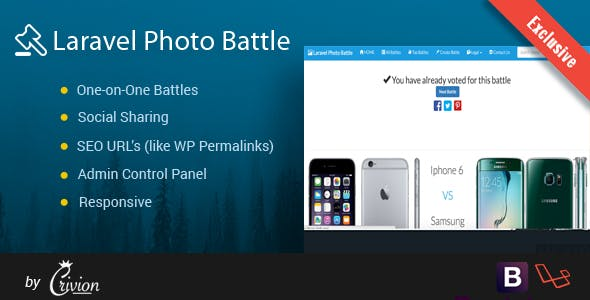 Laravel Photo Battle Script