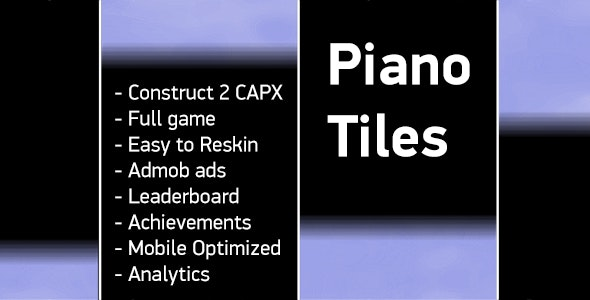Piano Tiles - HTML5 (Capx) + Admob + Analytics + Leaderboard + Achievements - CodeCanyon Item for Sale