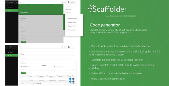 Scaffolder | A Powerful Laravel + Angular CRUD Generator by