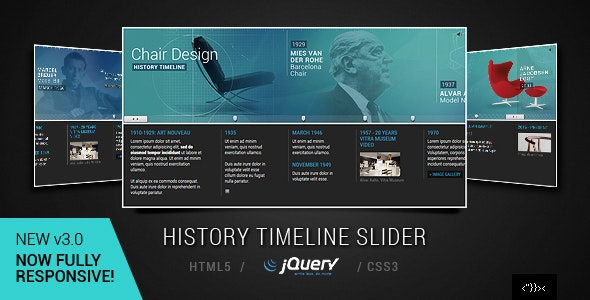 jQuery Responsive Timeline Slider - CodeCanyon Item for Sale