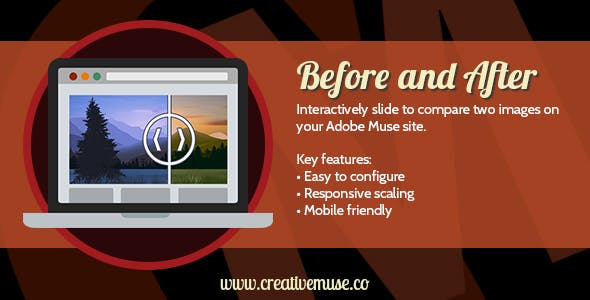 Before and After Widget for Adobe Muse v1.5.5