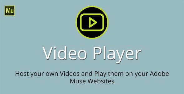 Video Player Adobe Muse Widget - CodeCanyon Item for Sale