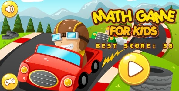 Math Game For Kids - HTML5 Game + Android + AdMob (Construct 3 | Construct 2 | Capx)