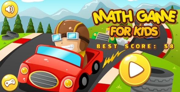 Math Game For Kids - HTML5 Game + Android + AdMob (Construct 3 | Construct 2 | Capx) - CodeCanyon Item for Sale