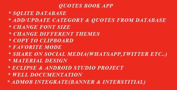 Quotes Book App
