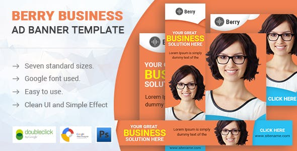 Berry | Business HTML 5 Animated Google Banner