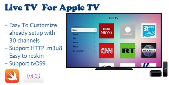 Live TV For Apple TV - CodeCanyon Item for Sale
