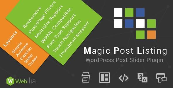 Magic Post Listing PRO - Slider, Masonry, Caption, List, Grid Styles!