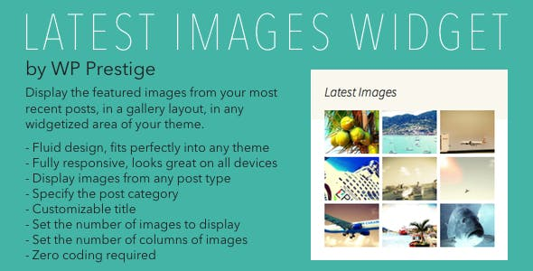Latest Images Widget for WordPress