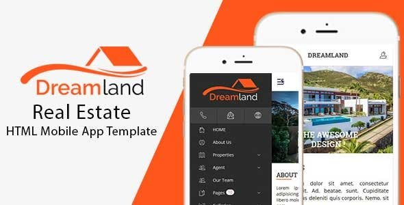 DreamLand – Real Estate HTML Mobile App Template