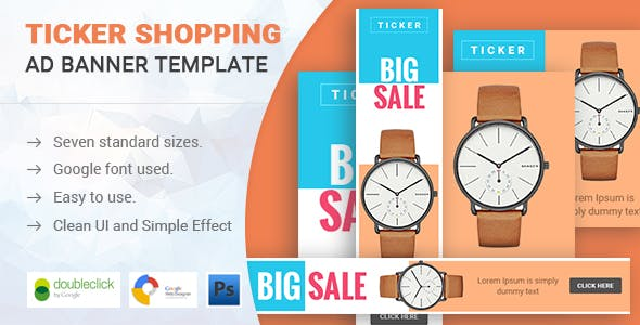 Ticker | Shopping HTML 5 Animated Google Banner