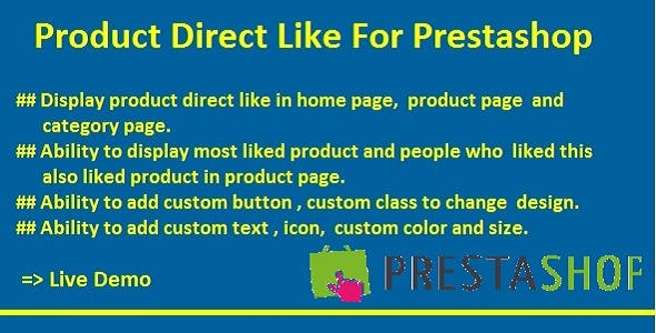 Product Direct Like For Prestashop