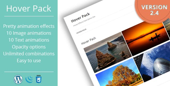 Hover Effects Pack - WordPress Plugin        Nulled