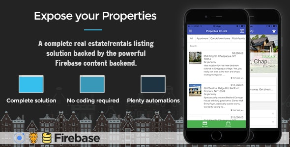 Real Estate Ionic - Full Application with Firebase and Backendless backend - CodeCanyon Item for Sale