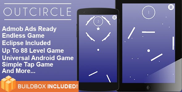 Buildbox Game Template – Out Circle Universal Android Game + Eclipse Project Included