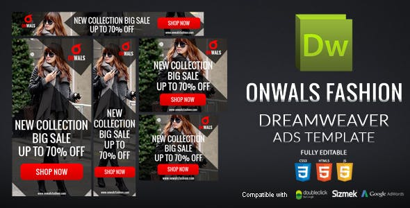 Html5 Banner Dreamweaver Template V1 By On3 Step Codecanyon