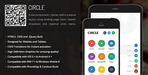 Circle | Creative Navigation for Mobile & Tablets