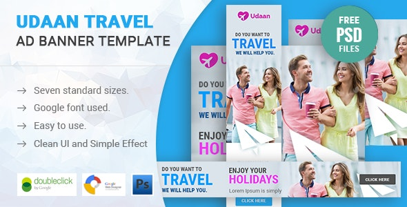 Udaan | Travel HTML 5 Animated Google Banner - CodeCanyon Item for Sale