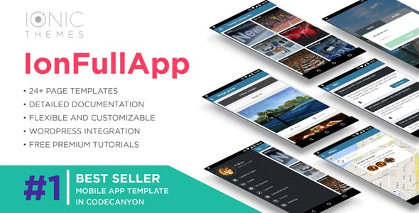 IonFullApp | Full Ionic Template + Cordova Plugins