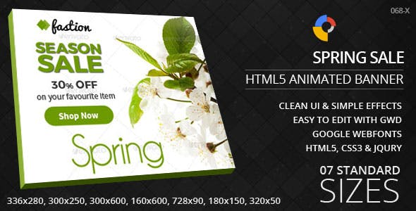 Seasonal Sale - HTML5 Ad Banners