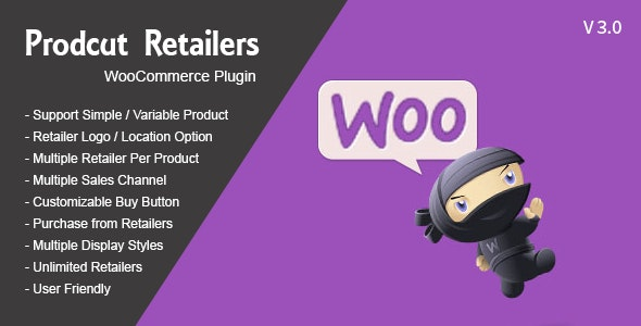 Product Retailers Woocommerce WordPress Plugin - CodeCanyon Item for Sale