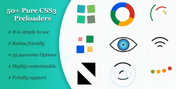 50+ Pure CSS3 Preloaders - CodeCanyon Item for Sale