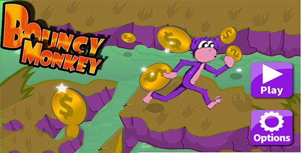 Bouncy Monkey Android Game with Adverts - CodeCanyon Item for Sale