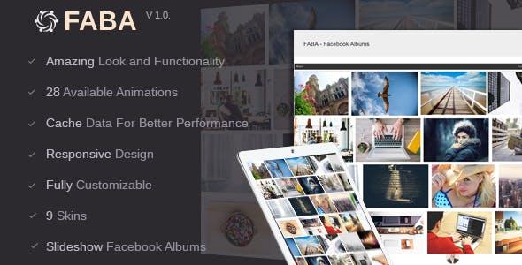 FABA - Facebook Albums And Photos Gallery