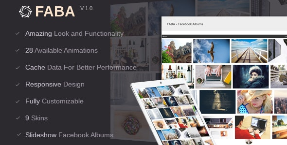 FABA - Facebook Albums And Photos Gallery - CodeCanyon Item for Sale