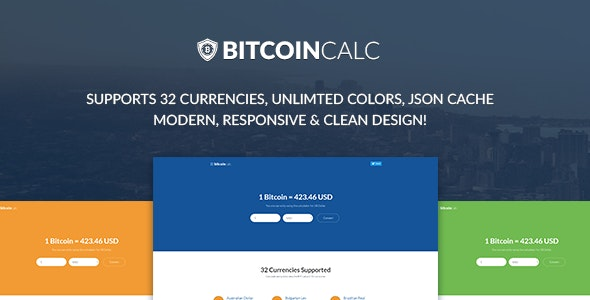 Bitcoin Calculator - Supports 32 Currencies - CodeCanyon Item for Sale