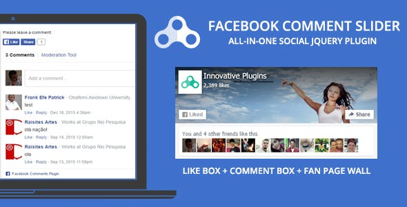 Comment Slider for Facebook - jQuery Social Plugin