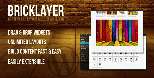 Bricklayer - Content Builder WP Plugin