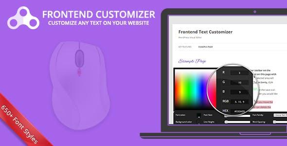 Frontend Text Customizer - WordPress Visual Editor